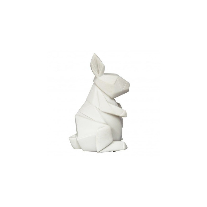 Lampe Lapin Blanche Origami