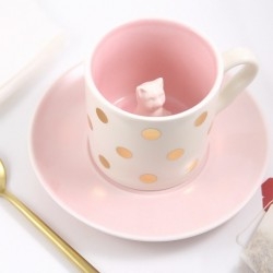 Tasse en porcelaine Chat Rose