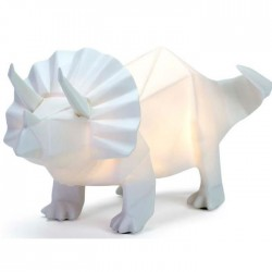 Lampe veilleuse Triceratops Blanche
