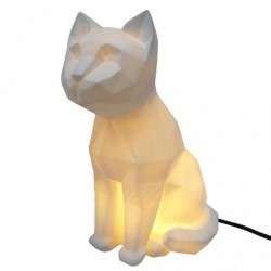 Lampe veilleuse CHAT Blanc Origami